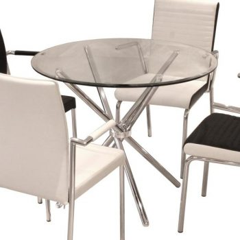 Folding Glass Dining Table