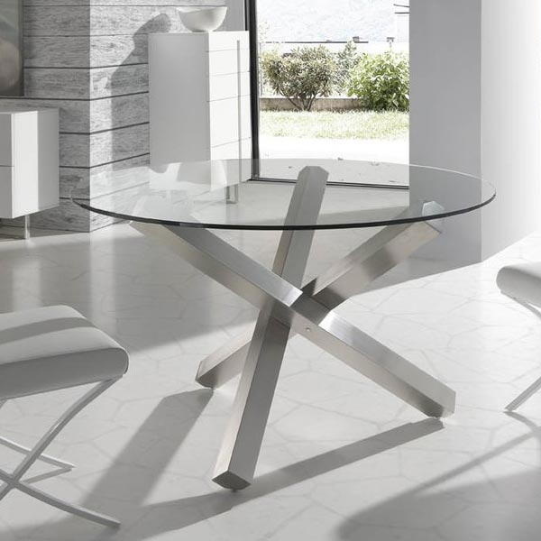 Metal-Glass-Dining-Table